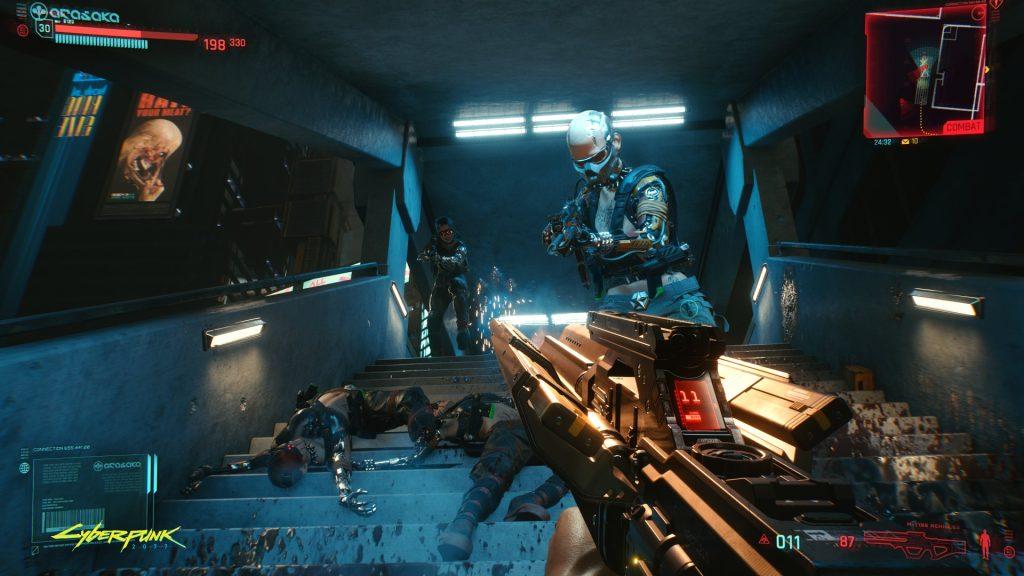 Atualização de cyberpunk 2077 jogabilidade em primeira pessoa