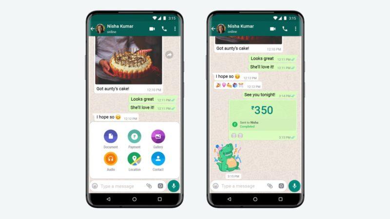 Pagamentos e transferências por whatsapp
