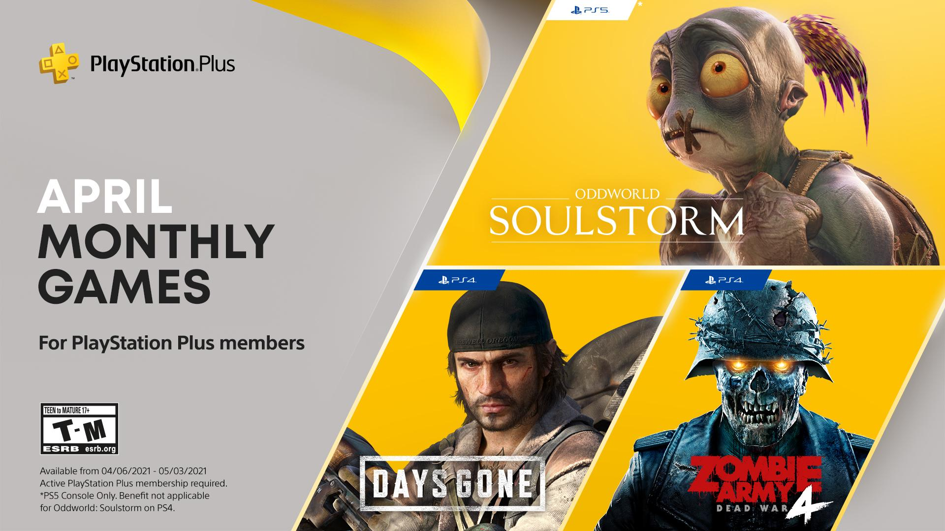 Ps plus de abril traz days gone, oddworld e muito mais. Lute contra hordas de zumbis, explore mundos bizarros e detone mortos-vivos nazistas nos games da ps plus de abril de 2021