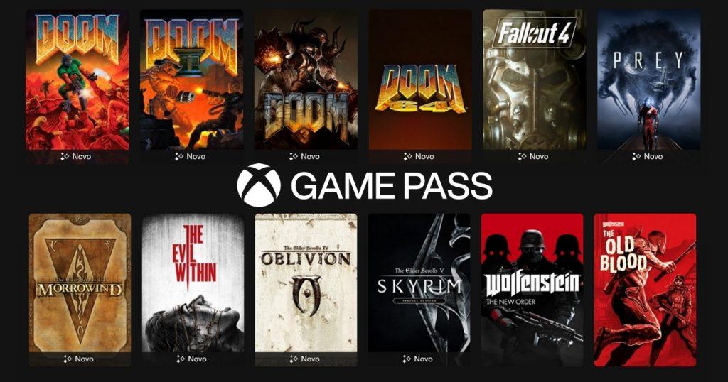 Jogos da bethesda no xbox game pass