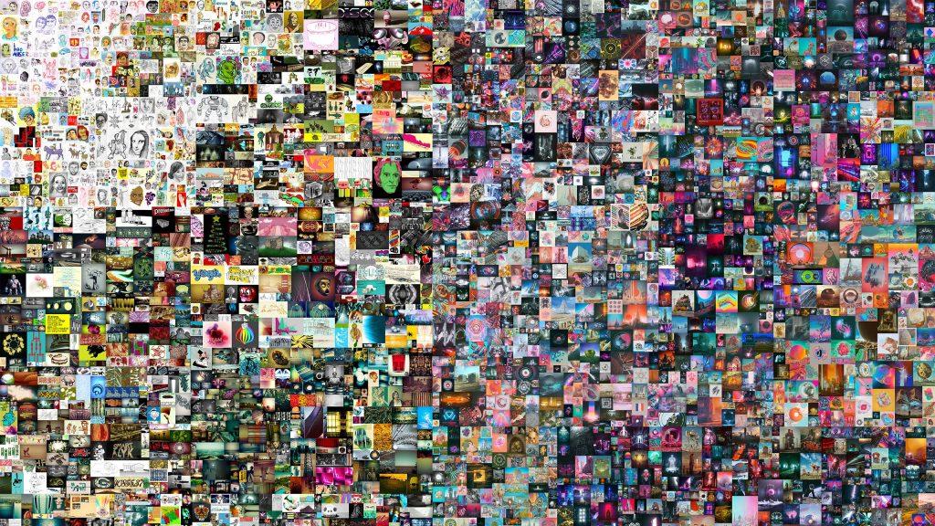 """Parte da arte """"everydays: the first 5000 days"""" criada por beeple que será leiloada em nft pela christie's"""