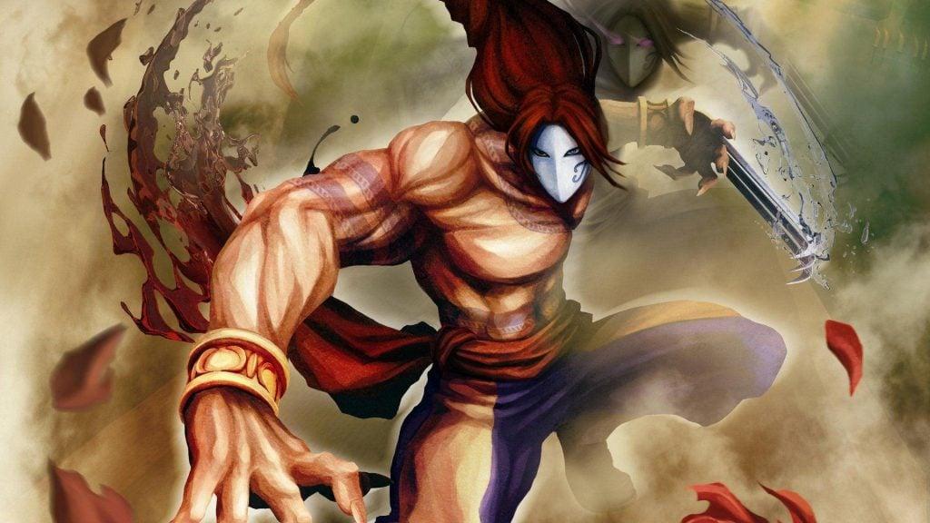 Vega usando sua máscara e garrra característica que o transformam em um poderoso lutador.