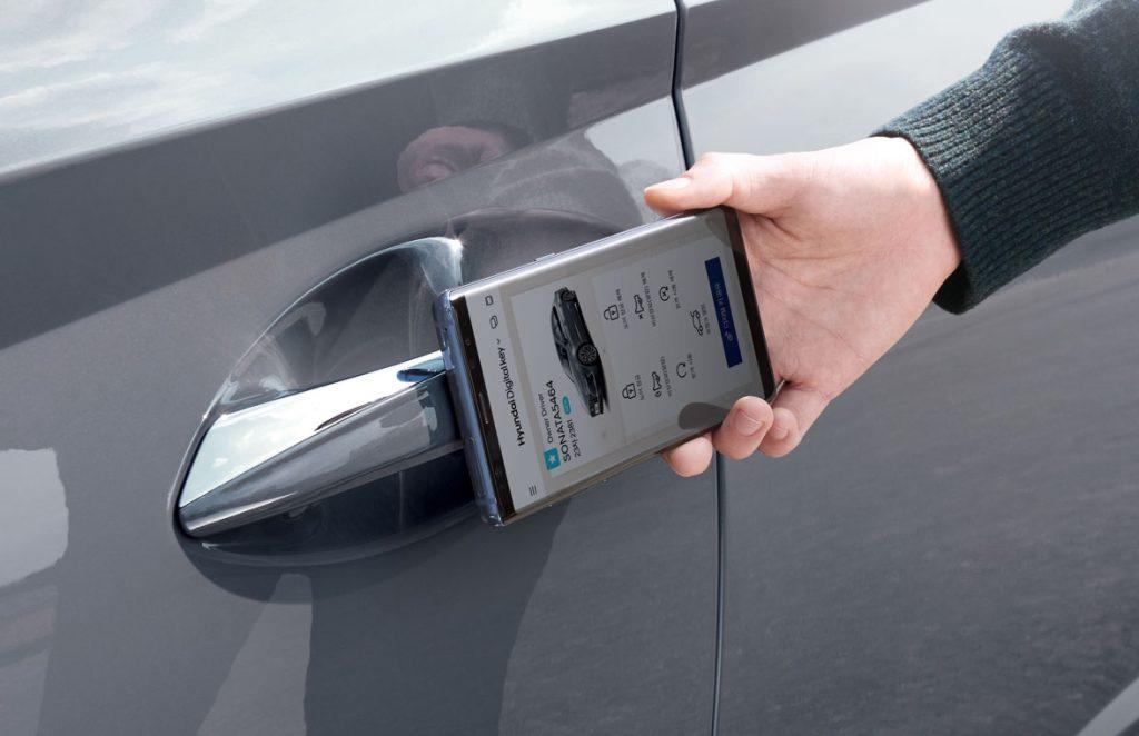 Chave digital do carro