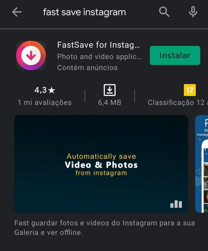 Como baixar imagens do instagram