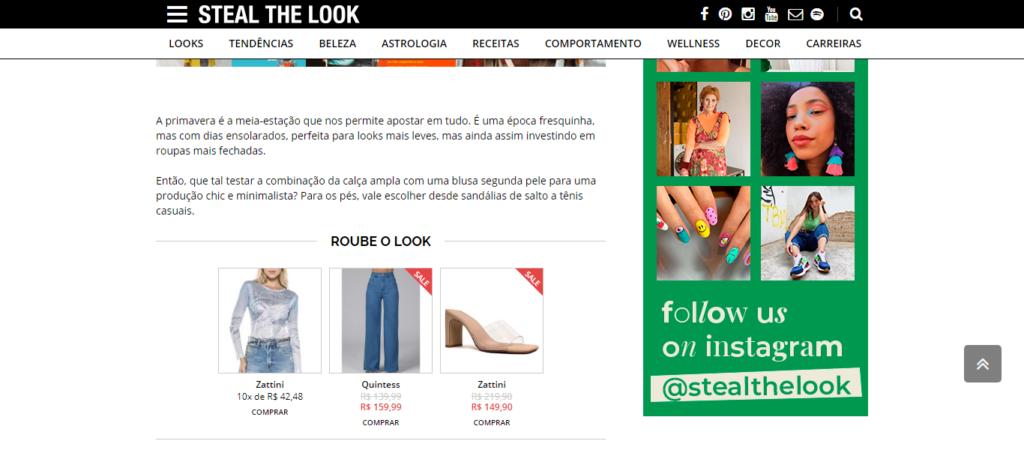 Steal the look loja virtual