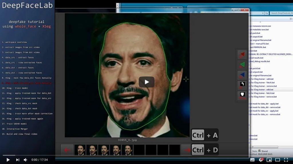 O deepfacelab foi um dos serviços de deepfake pioneiros na internet e, ainda hoje, é capaz de gerar vídeos deepfake com uma qualidade incrível