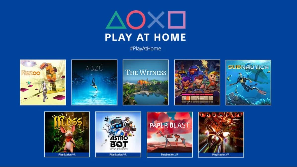 Play at home: novos games gratuitos para playstation a partir de 25 de março. Vários jogos indie e um grande sucesso da sony estarão disponíveis gratuitamente no play at home