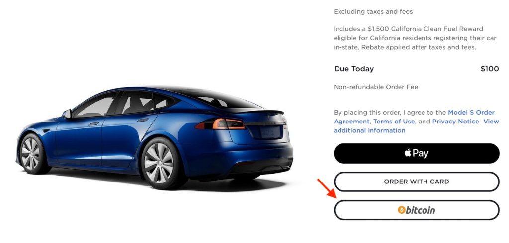 Tesla aceita bitcoin