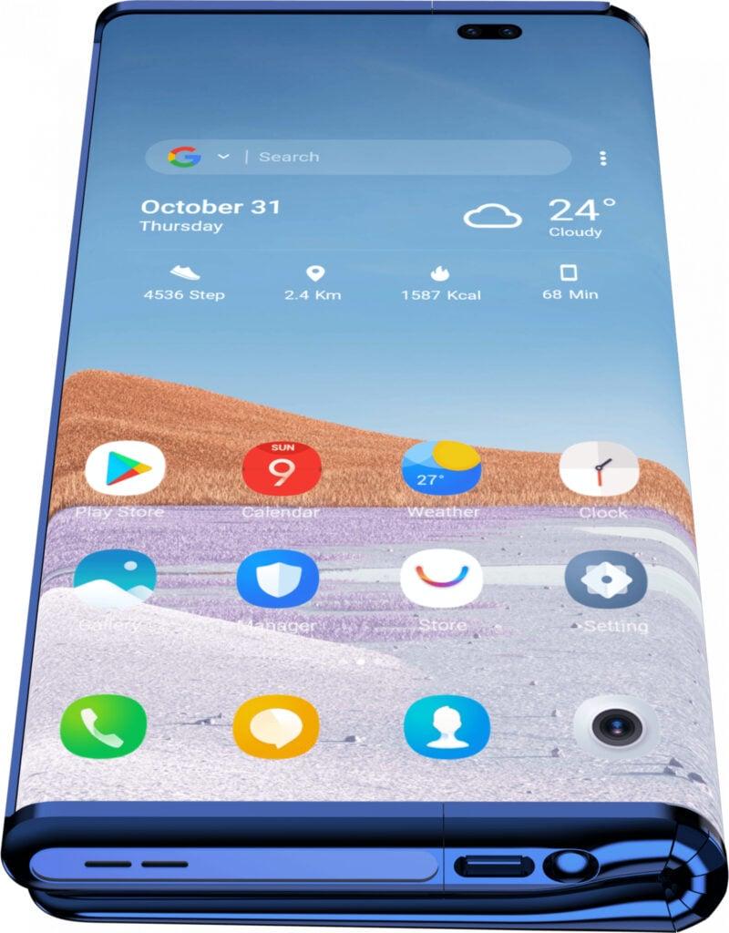 """Em formato """"normal"""", por assim dizer, o conceito do celular se assemelha a isto. (imagem: tcl, via the next web)"""