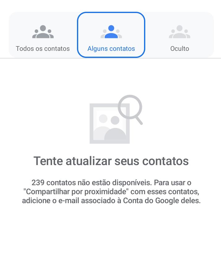 Adicione ao contato um e-mail google - compartilhar arquivos e apps no android