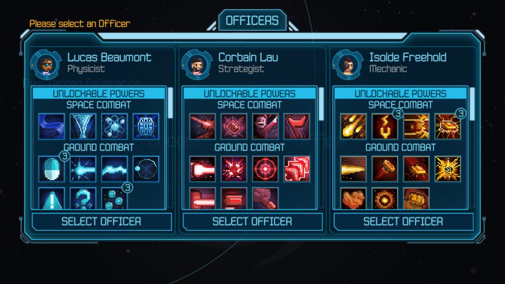 Seleção de oficiais em halcyon 6