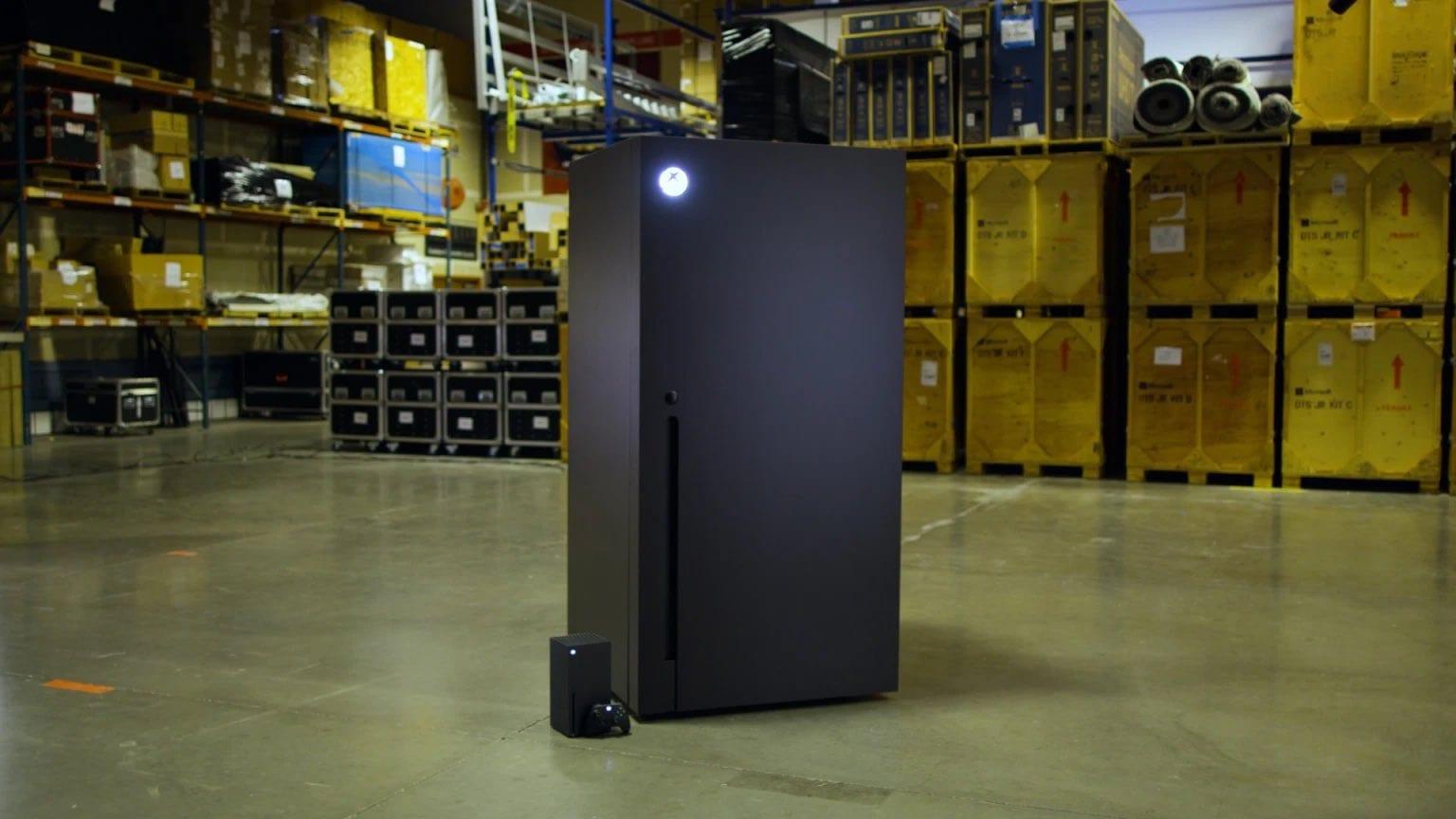 Microsoft promete produzir mini geladeiras do xbox series x. Após vencer um concurso do twitter, gerente de marketing da empresa afirma que serão fabricadas as mini geladeiras do xbox series x