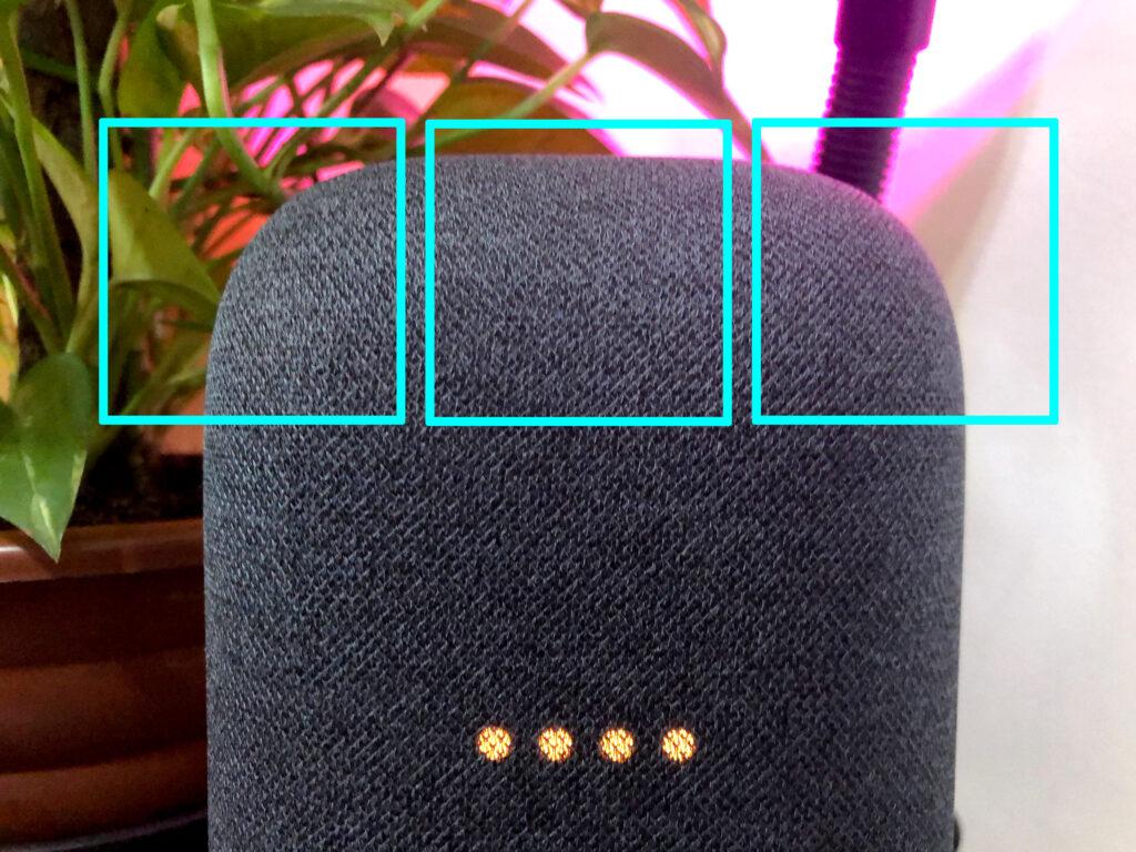 Botões sensíveis ao toque nest audio