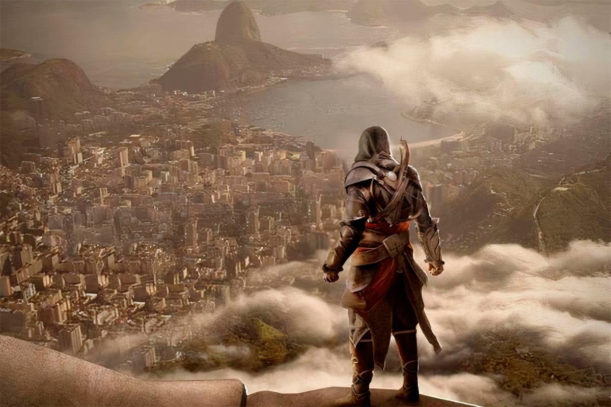 Ilustração promocional da ubisoft, de 2012, para promover o jogo no brasil