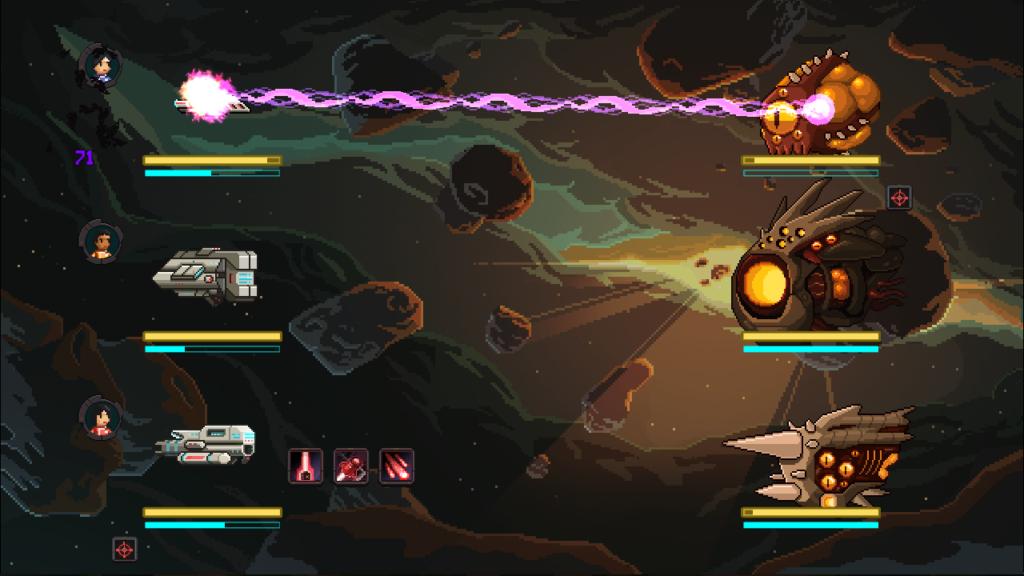 Naves em combate no jogo halcyon 6