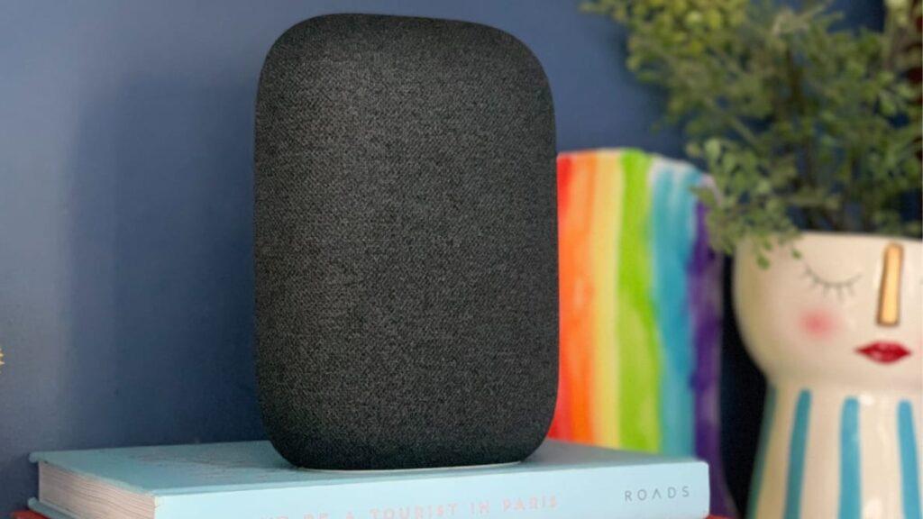 Google nest audio carvão