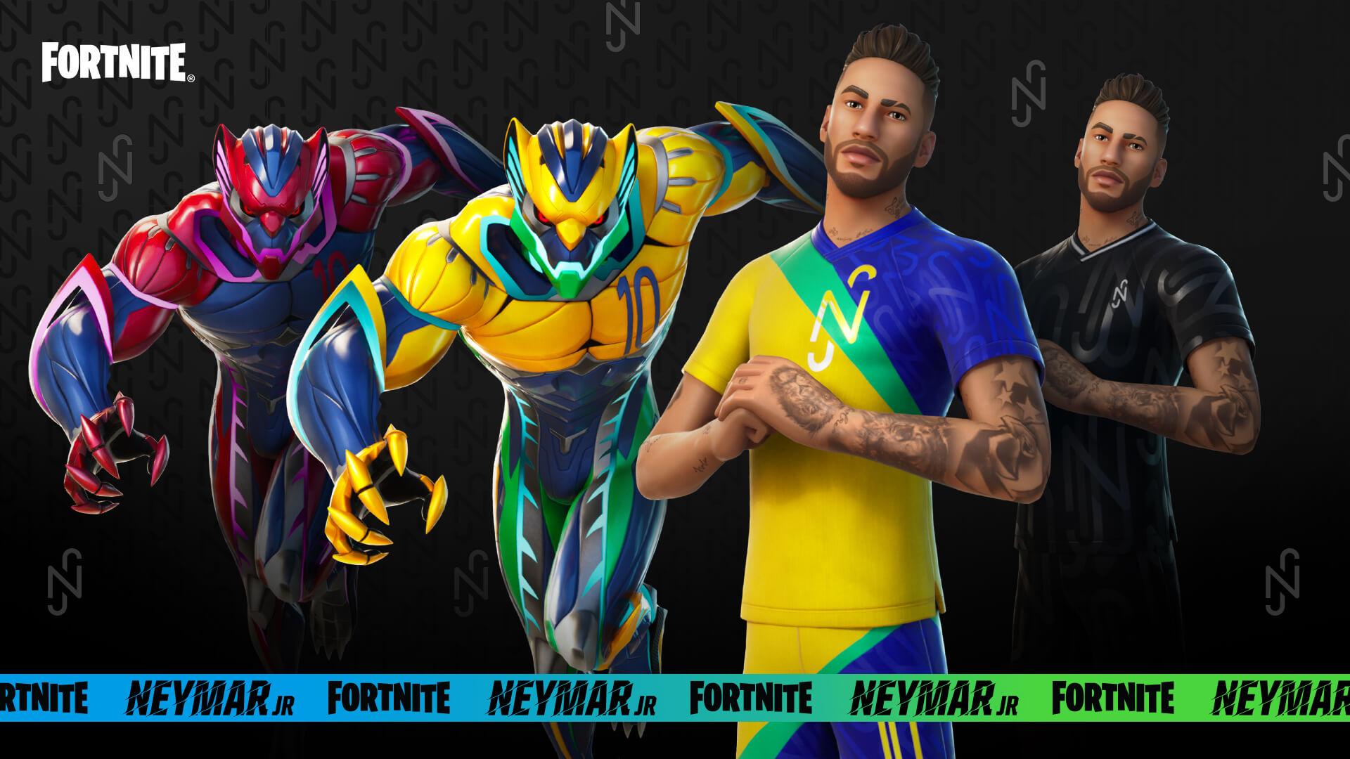 Neymar no fortnite: o jogador e suas skins