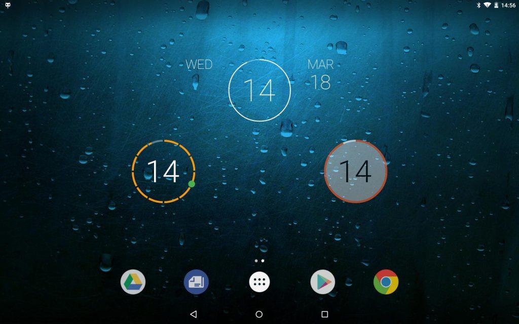 Com design minimalista, onca clock é um widget que mistura o visual dos relógios analógicos e digitais