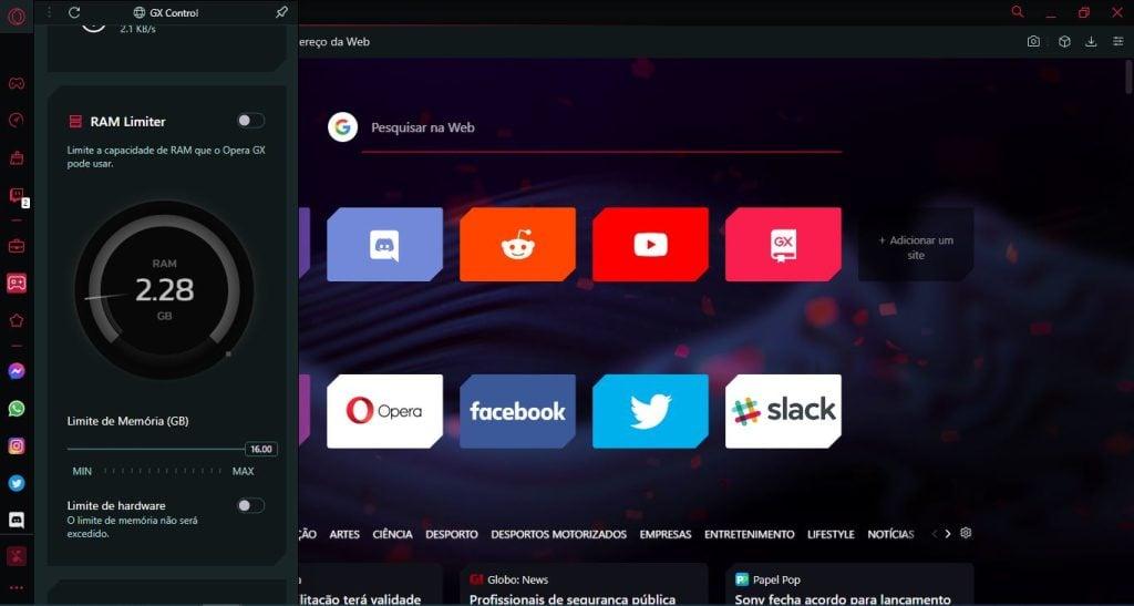 Opera gx, o navegador gamer dedicado para jogos. Em acesso antecipado, o opera gx oferece atalhos para acessar o whatsapp, twitter e facilidades como desencaixe de vídeos para assistir fora do navegador