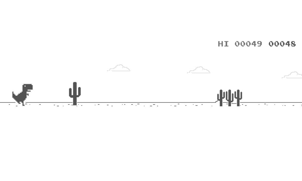 T-rex runner no google chrome