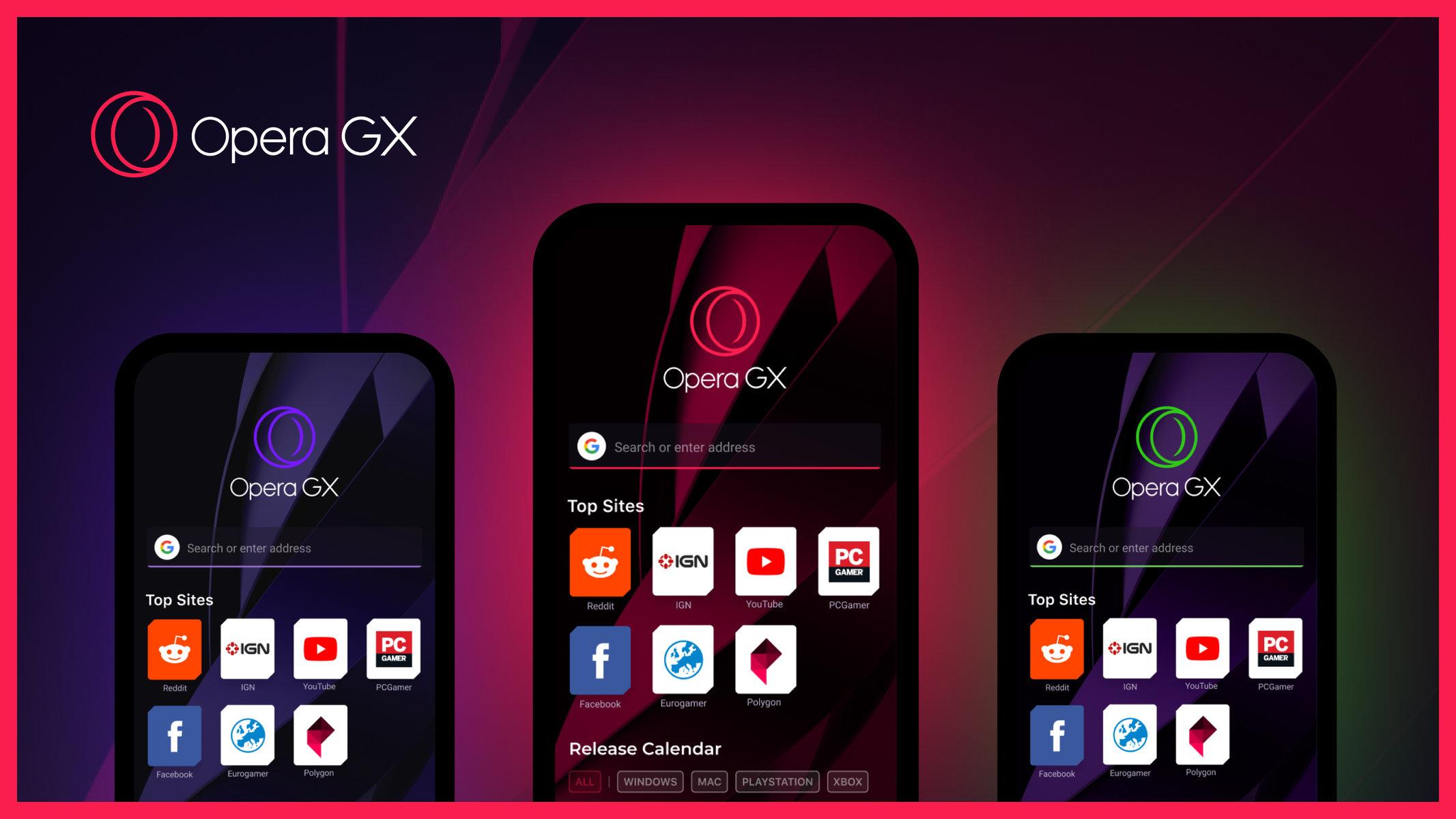 Opera gx mobile - imagem do release da empresa