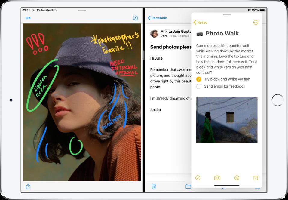 Split view e slide over juntos - dicas e truques do ipad