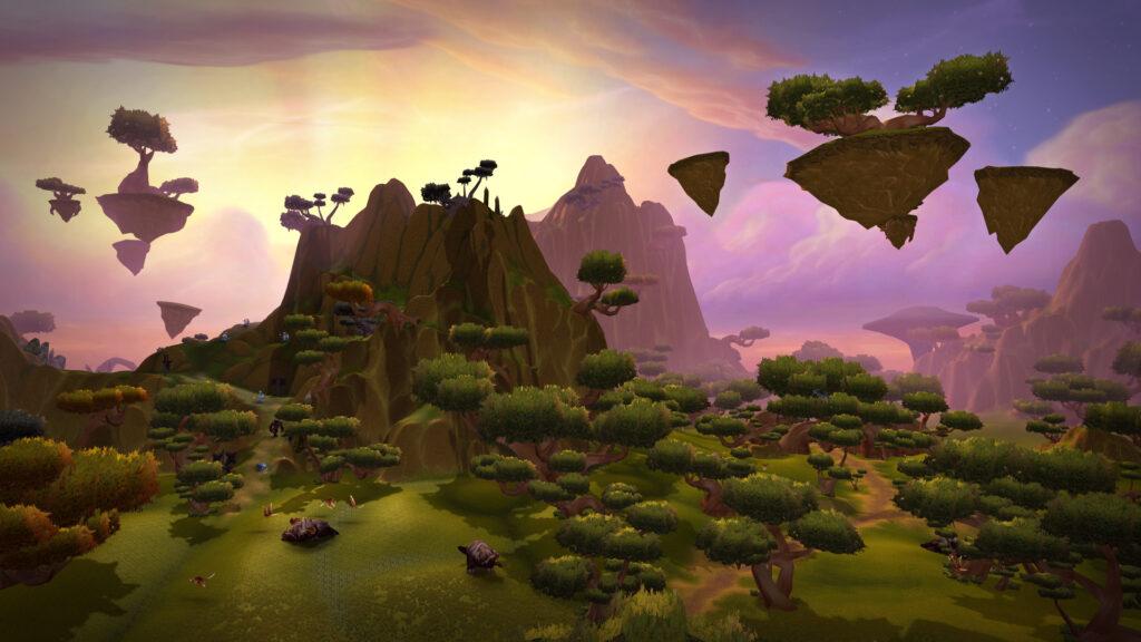 Nagrand, adição que faz parte dessa primeira expansão de world of warcraft, é uma zona contestada relacionada a terralém e aos draenei.