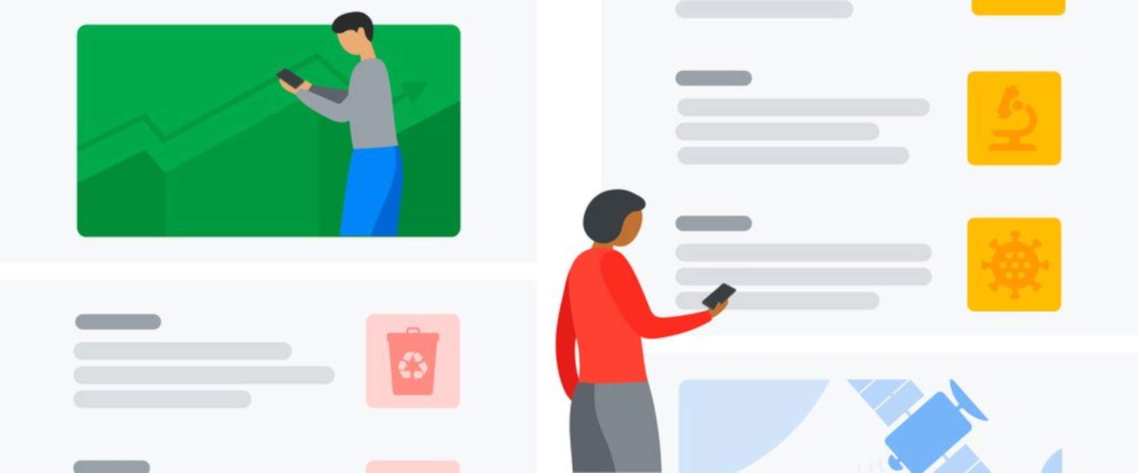 Destaques do google