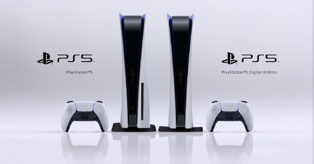 As duas versões do ps5