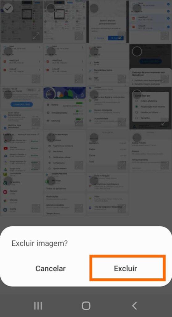 Excluir fotos no android