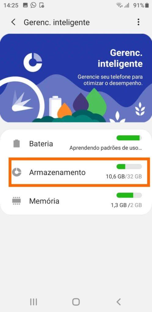 Gerenciamento inteligente android