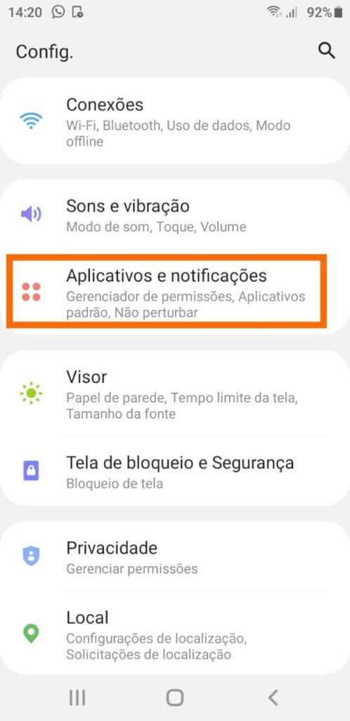 Apps e notificações android