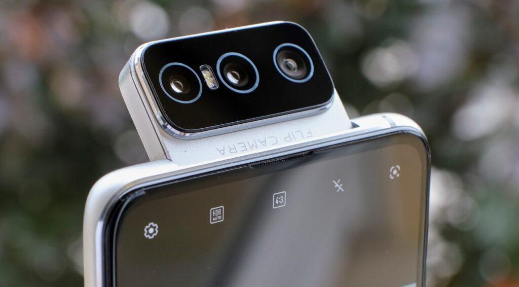 Câmeras do zenfone 8 flip viradas para a frente