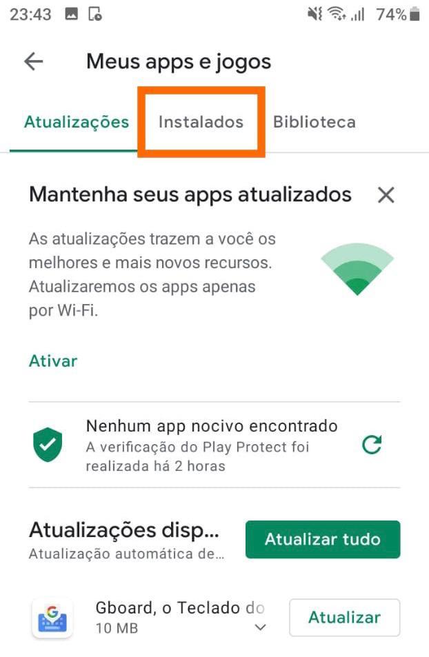 Aba-apps-instalados