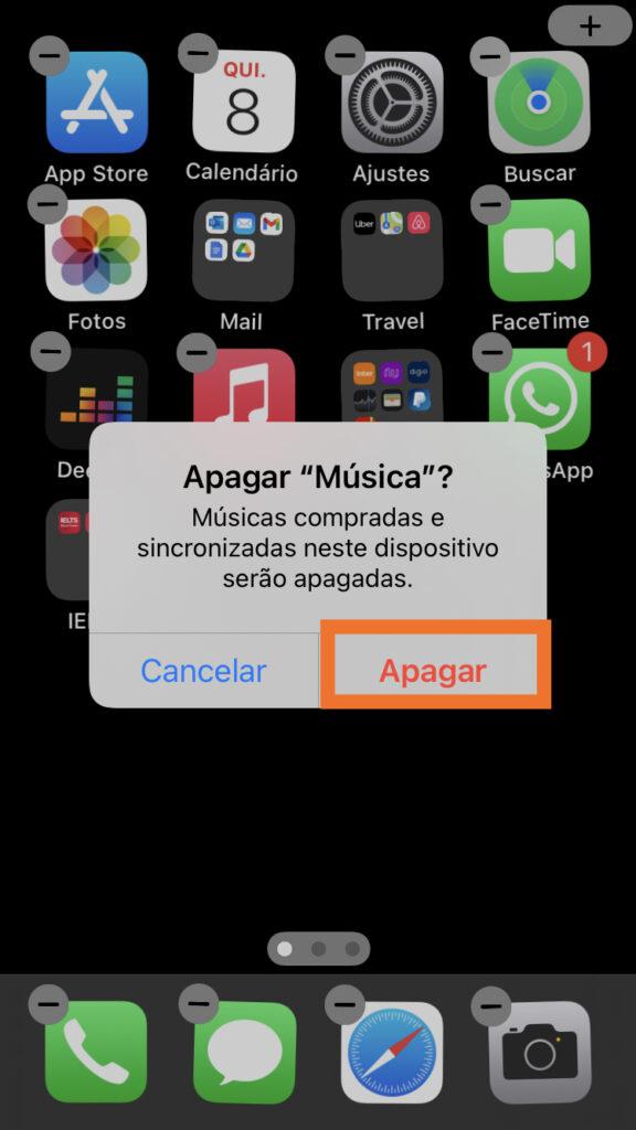 Deletar aplicativo do iphone