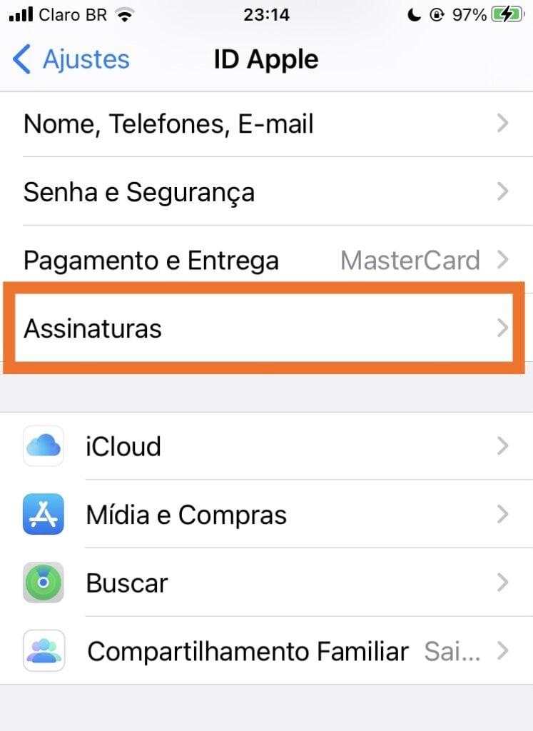 Assinaturas apple