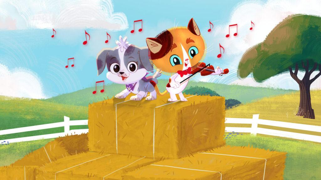 Guida e brasa são os personagens principais na série animada cidade cirandinha
