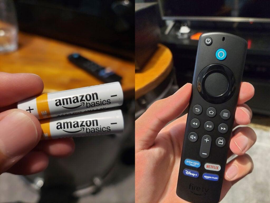 Fire tv stick 4k controle e pilhas