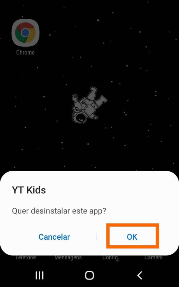 Excluir app no android