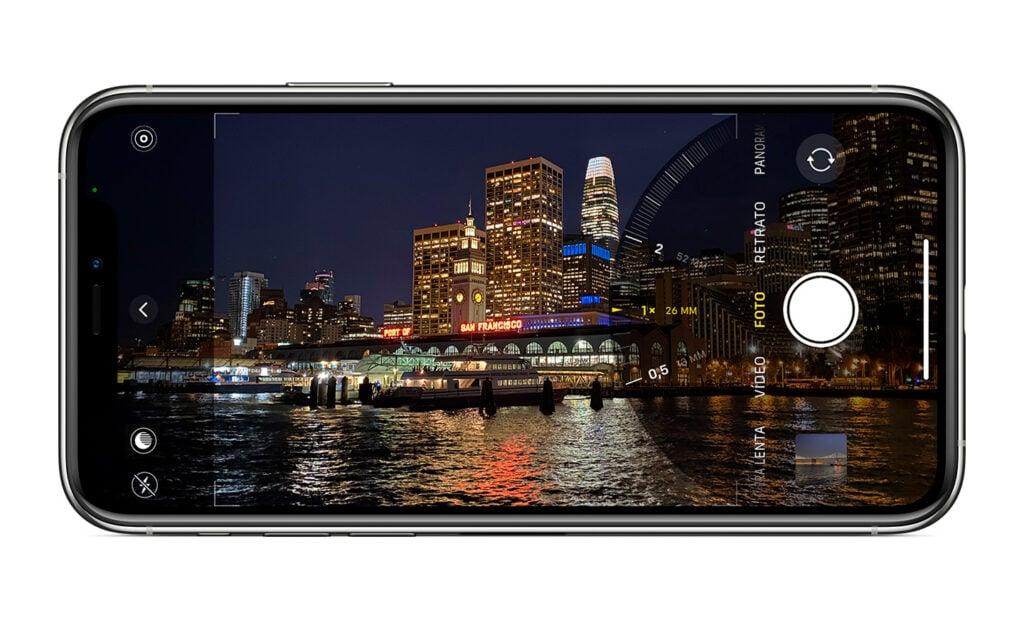 Explorar as funções da câmera é uma ótima forma de aprendizado - na imagem, por exemplo, vemos as opções de câmeras com diferentes aberturas do iphone 12