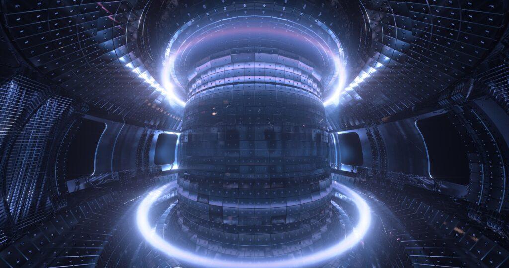 Um exemplo de reator de fusão nuclear