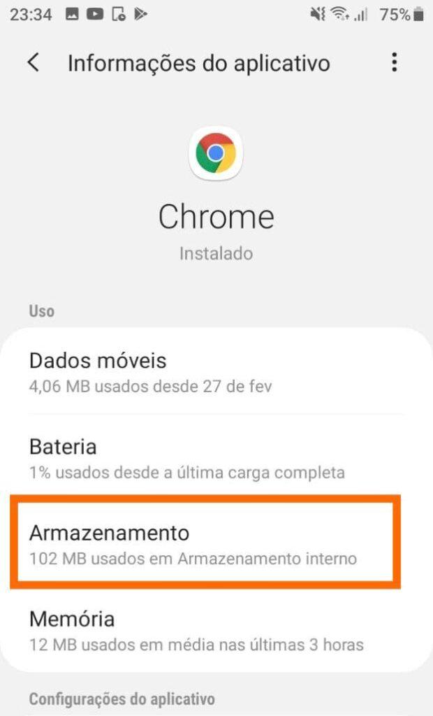 Limpar cache apps
