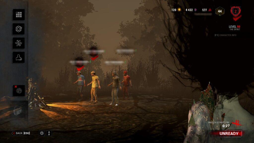 Como jogar de assassino em dead by daylight - lobby