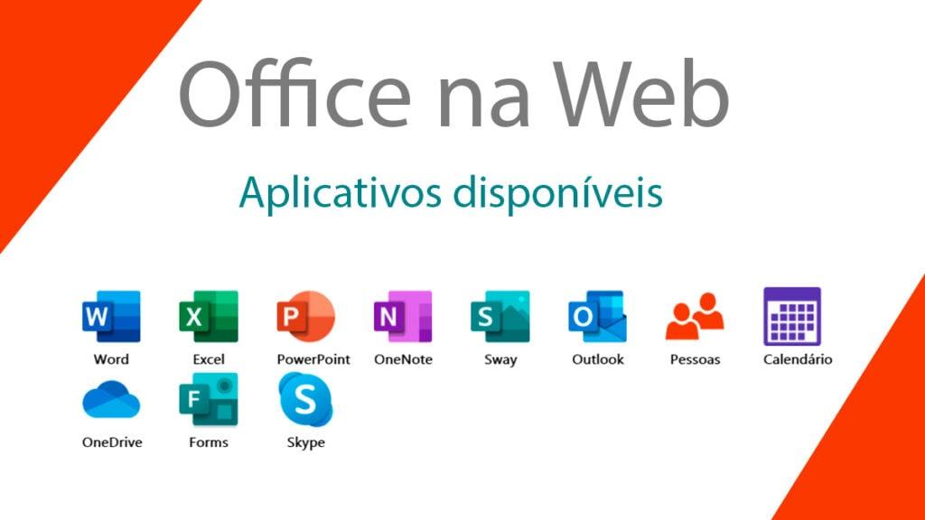 Apesar de ter menos funcionalidades, o office na web não deixa a desejar na quantidade de aplicativos disponíveis, nem no suporte.