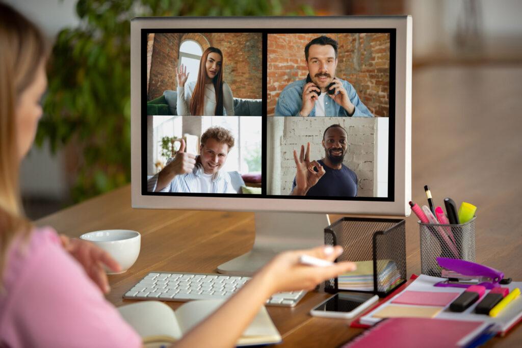 Reunião usando vpn para ter privacidade
