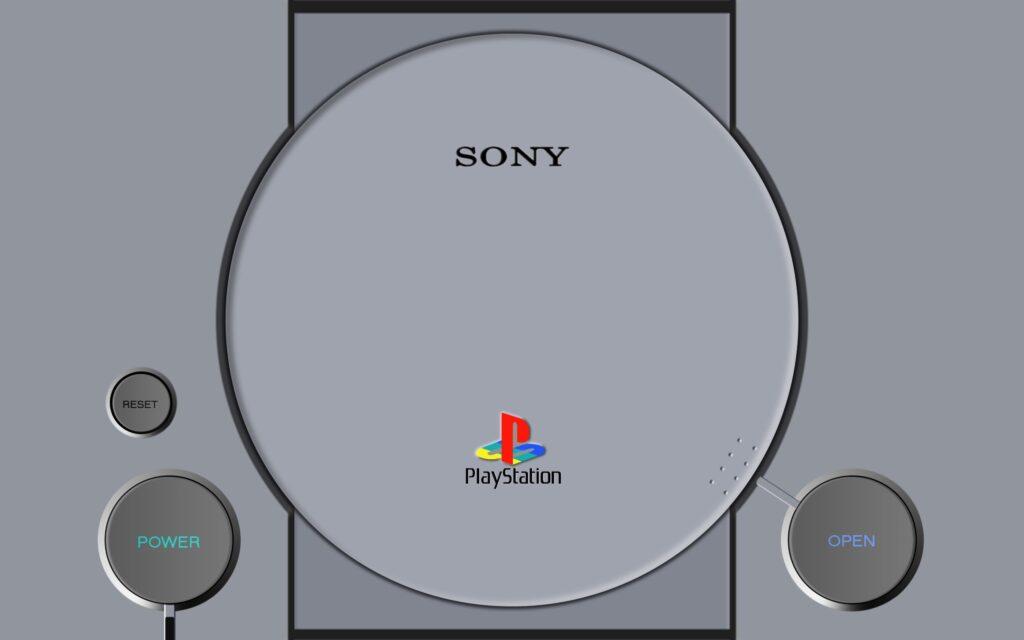 A retrospectiva da e3 começa com a imagem do playstation 1, que roubou a cena na primeira feira.