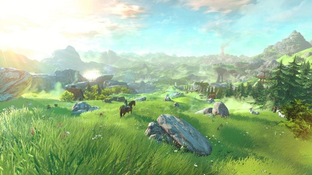 Imagem do vasto mundo de the legend of zelda breath of the wild