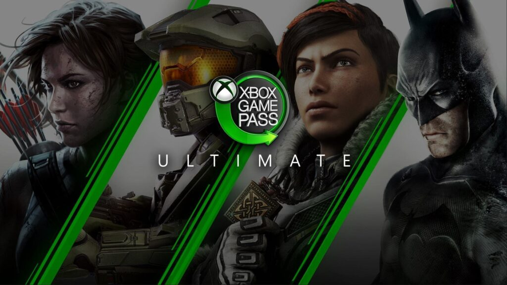 Imagem com o logo do xbox gamepass ultimate.