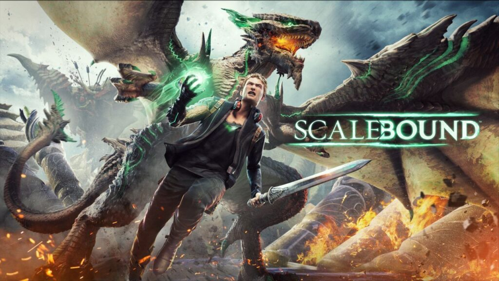 O protagonista e um dragão são o destaque da imagem.