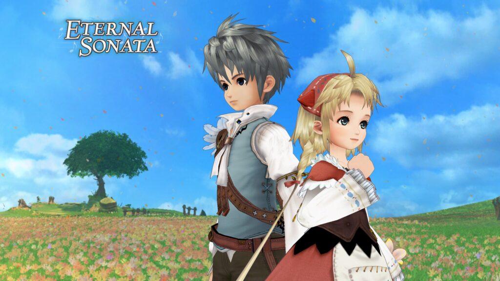 A imagem mostra os personagens principais de eternal sonata, que precisa estar na retrocompatibilidade do xbox.